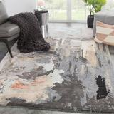 Jaipur Living Abstract Abstract Handmade Tufted Gray/Beige/Brown Area RugViscose/Wool in White, Size 36.0 H x 24.0 W x 0.5 D in   Wayfair RUG139353