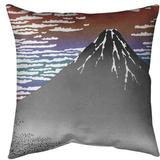 East Urban Home Katsushika Hokusai Fine Wind Clear Morning Euro Pillow Polyester/Polyester blend in Red, Size 26.0 H x 26.0 W x 2.0 D in | Wayfair