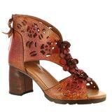 Spring Step Marieloves - Womens Euro 39 US 8.5 Red Sandal Medium