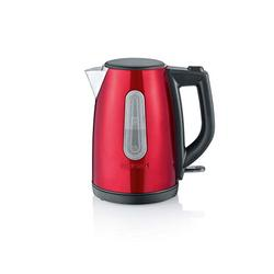SEVERIN WK 3417 Wasserkocher (ca. 2.200 W, 1 L) fire red metallic /schwarz