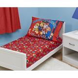 Paw Patrol 2 Piece Fitted Toddler Bedding Set, Polyester in Red | Wayfair PAW268