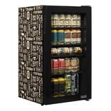 NewAir Beers of the World 126 Can Freestanding Beverage Refrigerator Glass, Size 33.0 H x 18.5 W x 18.7 D in   Wayfair AB-1200BC1