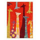 nuLOOM Indoor Rugs Multi - Red Giraffe Rug