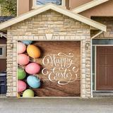 The Holiday Aisle® Happy Easter Eggs Door Mural Plastic in Brown, Size 84.0 H x 96.0 W x 1.0 D in | Wayfair E4A9E396EFF545AD8EC480F140990807