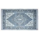 Timbergirl Kilim Blue Wool Handmade 5' x 8' Area Rug,