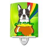 Caroline's Treasures Jack Russell Terrier St. Patrick's Day Ceramic Night Light Ceramic in Green, Size 6.0 H x 4.0 W x 3.0 D in   Wayfair BB1947CNL