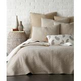Levtex Home Quilt Sets Taupe - Taupe Cross Stitch Reversible Quilt Set