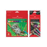Faber-Castell Craft Kits - Triangle Colored EcoPencil & Metallic Colored EcoPencils Set
