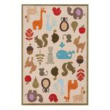 Lil Mo by Momeni Rugs Indoor Rugs IVORY - Ivory Critters Whimsy Rug