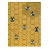 Lil Mo by Momeni Rugs Indoor Rugs HONEYCOMB - Gold Honeycomb Whimsy Rug