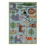 Lil Mo by Momeni Rugs Indoor Rugs BLUE - Blue Safari Whimsy Rug