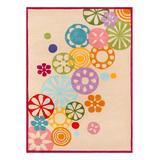 Lil Mo by Momeni Rugs Indoor Rugs IVORY - Ivory Falling Flowers Hipster Rug