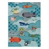 Lil Mo by Momeni Rugs Indoor Rugs Multi - Sky Airborne Plane Rug