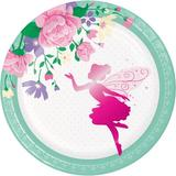Creative Converting Floral Fairy Paper Disposable Dessert Plate Paper in Green/Indigo/Pink   Wayfair DTC340163PLT
