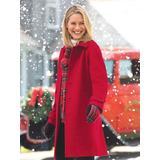 Women's Petite Wool Balmacaan, Red P-S