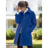 Women's Plus Wool Balmacaan, Sapphire Blue 3X