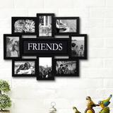 Red Barrel Studio® Geffrey Family Selfie Gallery Collage Wall Hanging Picture Frame Plastic in Black, Size 17.0 H x 22.0 W x 1.0 D in | Wayfair
