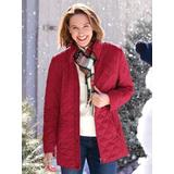 Women's Plus Diamond Quilted Jacket, Claret Red 3X