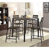 William's Home Furnishing Wesport Counter Height Table Set, Antique Brown/Black