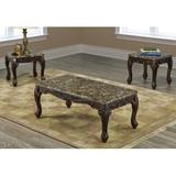 Astoria Grand Ranee 3 Piece Coffee Table Set Marble/Granite in Brown, Size 18.0 H x 48.0 W x 24.0 D in   Wayfair 765F751F0CA94036ACE4ACCAD68B8824