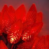 C9 Red Christmas Lights Set of 25, 17 Ft, LED Red String Lights C9 Christmas Lights Valentine's Day Lights Party Outdoor Christmas Lights C9 LED Christmas Lights