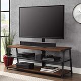 3 in 1 TV Stand Console Storage Media 70 inch Glass Shelves Wall Mount Tabletop Swivel Mount Flat Screen TV Cabinet Living Room Furniture Video Games Entertainment Center