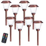Sterno Home Solar Powered Pathway Light PackMetal in Brown, Size 12.0 H x 4.9 W x 4.9 D in   Wayfair GL44066