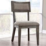 Gracie Oaks Clegg Upholstered Side Chair in GrayWood/Upholstered/Fabric in Brown/Gray, Size 37.0 H x 19.0 W x 24.75 D in   Wayfair
