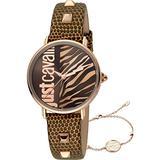 Just Cavalli Women's Zebra Watch Quartz Mineral Crystal JC1L077L0045
