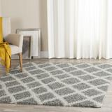 Dallas Shag Collection 6' X 6' Square Rug in Grey And Ivory - Safavieh SGD258G-6SQ