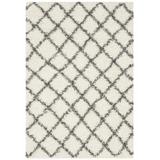 Dallas Shag Collection 4' X 6' Rug in Ivory And Dark Grey - Safavieh SGD258H-4