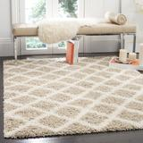 """""""Dallas Shag Collection 5'-1"""""""" X 7'-6"""""""" Rug in Beige And Ivory - Safavieh SGD258D-5"""""""