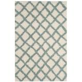 Dallas Shag Collection 4' X 6' Rug in Ivory And Seafoam - Safavieh SGD258J-4
