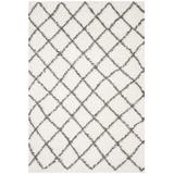 Dallas Shag Collection 6' X 9' Rug in Ivory And Dark Grey - Safavieh SGD258H-6