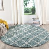 Dallas Shag Collection 6' X 6' Round Rug in Seafoam And Ivory - Safavieh SGD258C-6R