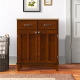 "Andover Mills™ Presswood 2 Door Accent Cabinet, Wood in Cherry, Size Standard (24-42"") | Wayfair EB57FEE797574D2D8FF6CF7FF737CDEA"
