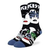 Good Luck Sock Men's Socks Black - KISS Black & White Band Socks - Men