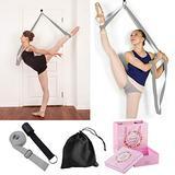 Leg Stretcher w/ Door Anchor - To Improve Leg Stretching Get More Flexible - Ballet Yoga Pilates Flexibility Trainer - Perfect For Home Portable Equipment Dance Gymnastic Exercise Taekwondo & MMA