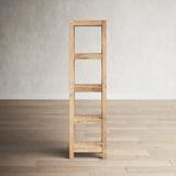 """Alcott Hill® Orben 75"""" H x 20"""" W Solid Wood Etagere Bookcase Wood in Brown, Size 75.0 H x 20.0 W x 14.0 D in   Wayfair"""