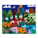 World Menagerie Garden Stream Wall Hanging Cotton in Black, Size 17.25 H x 19.75 W in | Wayfair 5BDC882E79F74D9285C5AEC7B67319FC
