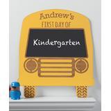 Personalized Planet Chalkboards - Block Font School Bus Personalized Chalkboard Sign