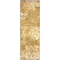 Superior Modern Scroll Collection Area Rug, Elegant Scrolling Patchwork Design, 10mm Pile Height wit
