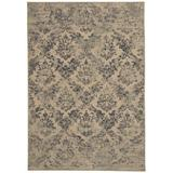 House of Hampton® Doretha Floral Hand Braided Brown Area Rug Polyester/Cotton in White, Size 47.0 W x 0.5 D in | Wayfair