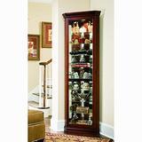 SOFAWEB.COM Victorian Cherry Corner Curio Cabinet - 27 x 16 x 80