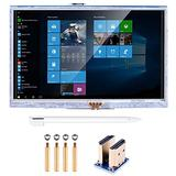 kuman 5 inch Resistive Touch Screen 800x480 HDMI TFT LCD Display Module with Touch Panel USB Port and Touch Pen for Raspberry Pi 3 2 Model B RPi 1 B B+ A A+ SC5A