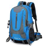 40L Men Hiking Backpack Outdoor Traveling for Mountaineering Camping (Blue)