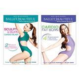 Ballet Beautiful Workout DVD 2 Pack - Sculpt & Burn Blast and Cardio Fat Burn. Mary Helen Bowers Barre Dance Inspired Fitness DVD Bundle