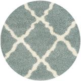 Dallas Shag Collection 8' X 8' Round Rug in Seafoam And Ivory - Safavieh SGD257C-8R