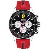 Chronograph Pilota Red Silicone Strap Watch 45mm - Red - Ferrari Watches