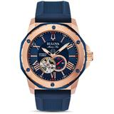 Men's Marine Star Heartbeat Automatic Silicone Strap Watch - Blue - Bulova Watches